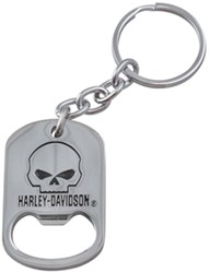 Harley-Davidson Scowling-Skull Key Chain and Bottle Opener