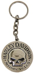 Harley-Davidson Key Chain - Willie G. Skull Emblem - Black and Chrome