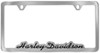 Harley-Davidson License Plate Frame - Contoured, Cut-Out Script - Bottom - Chrome and Black