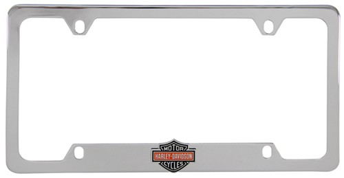 Harley Davidson License Plate Frame 3 D Black Orange Bar