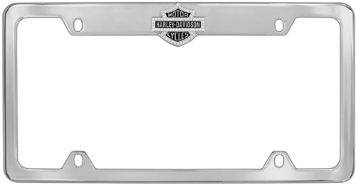 harley davidson license plate frame bar shield w swarovski crystal outline top chrome