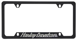 harley davidson contemporary license plate frame touring script bottom black