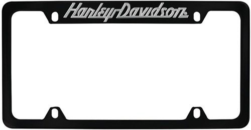 harley davidson contemporary license plate frame touring script top black