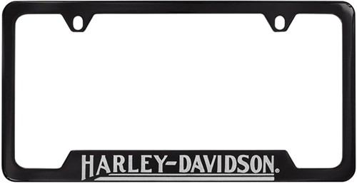 harley davidson contemporary license plate frame classic script bottom black