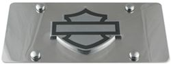 Harley-Davidson License Plate with Plain Bar and Shield Cut-Out Emblem