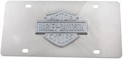 Harley-Davidson License Plate with 3D Chrome Logo Cut-Out Emblem
