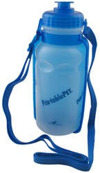 Portable<strong>PET</strong> PortaBottle Travel Water Container with Flip-Down Bowl - 20 oz - HE3058