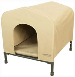 Portable<strong>PET</strong> HoundHouse - Large - Khaki - HE3096