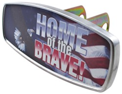 "HitchMate Home of the Brave Trailer Hitch Receiver Cover - 1-1/4"" or 2"" Hitch - Aluminum"
