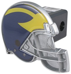 "Michigan Wolverines Helmet 2"" NCAA Trailer Hitch Receiver Cover"