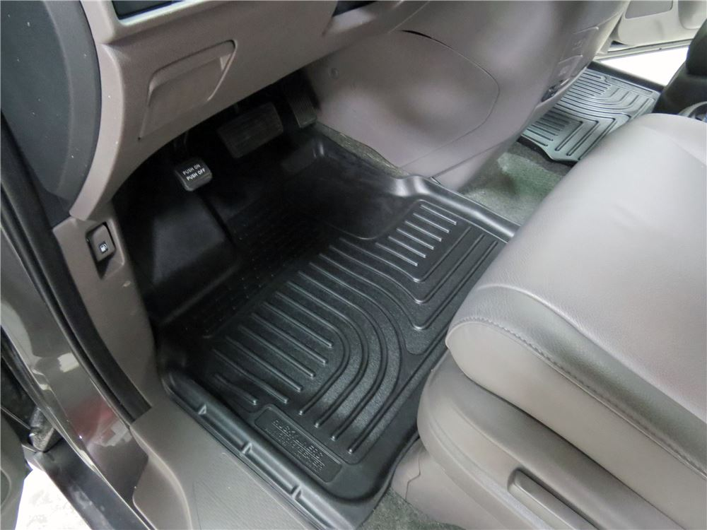 2016 honda odyssey husky liners weatherbeater custom auto floor liners front black. Black Bedroom Furniture Sets. Home Design Ideas