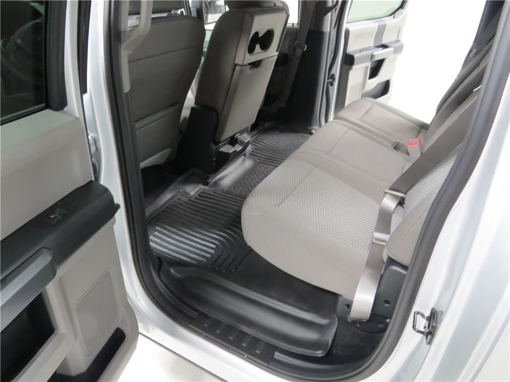 2018 Ford F-150 Husky Liners X-act Contour Custom Auto Floor Liner - 2nd Row Rear - Black
