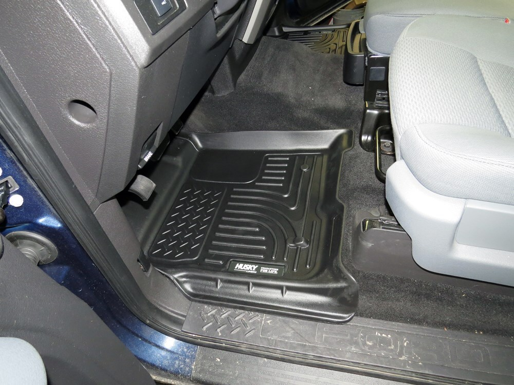 2014 ford f 150 husky liners weatherbeater custom auto floor liners front and rear black. Black Bedroom Furniture Sets. Home Design Ideas