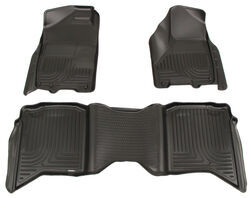 Husky Liners WeatherBeater Custom Auto Floor Liners - Front and Rear - Black