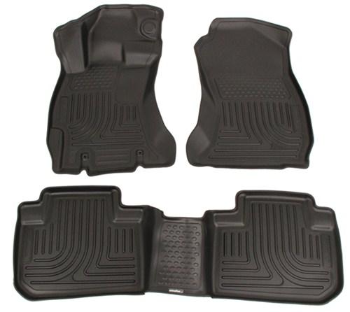 subaru forester husky liners weatherbeater custom auto floor liners front  rear black