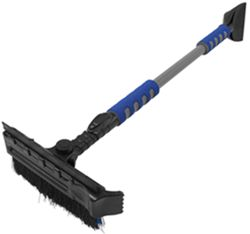 Hopkins Ice Crusher Extendable Ice Scraper with Snow Brush and Squeegee - Long Reach