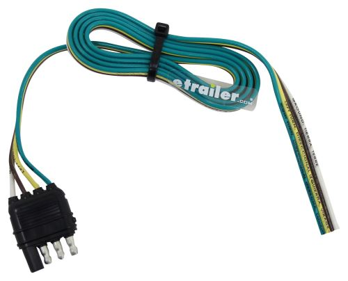 Hopkins Wiring Harness With 4-pole Flat Trailer Connector - Trailer End