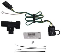 hopkins plug-in simple vehicle wiring harness with 4-pole flat trailer  connector
