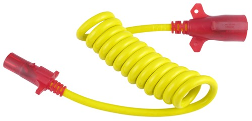 coiled flex umbilical cable to join 7 way on rv to 6 way on flat hopkins endurance flex coil trailer connector adapter w nite glow 7