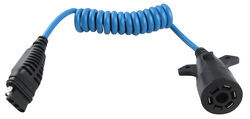 Hopkins Heavy-Duty Trailer Coiled Wire Adapter for 7-Way to 4-Wire Flat