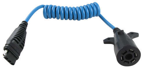 HM47065_500 hopkins heavy duty trailer coiled wire adapter for 7 way to 4 wire Standard Trailer Wiring at reclaimingppi.co