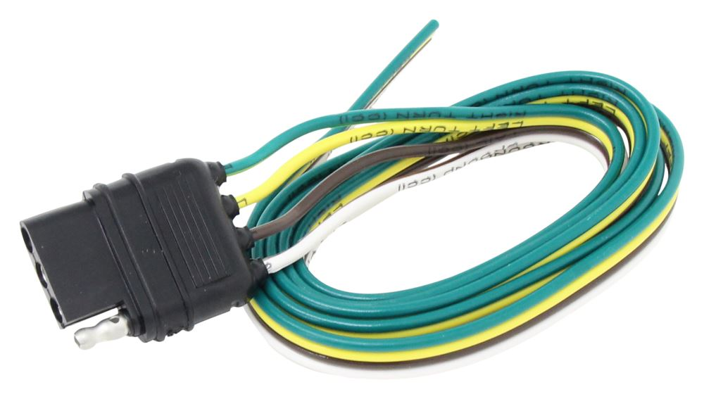 wiring harness with 4 pole flat trailer connector 48 quot wire lead wiring hm48035