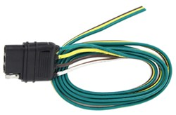 "Hopkins Wiring Harness with 4-Pole Flat Trailer Connector - 48"" Wire Lead"