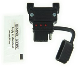 Hopkins Endurance Quick-Fix Replacement 4-Way Flat Trailer Connector w LED Test Lights - Vehicle End