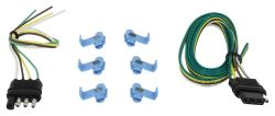 Hopkins 4-Way Flat Trailer Wiring Kit - Vehicle and Trailer Ends