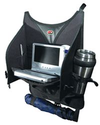 Hopkins Go Gear Interior Back Seat Cargo Organizer - Over the Seat Hanging Design - DVD Holder