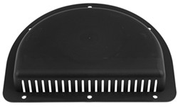 "Replacement Exterior Half-Moon Trailer Vent for 3"" Diameter Hole - Black"