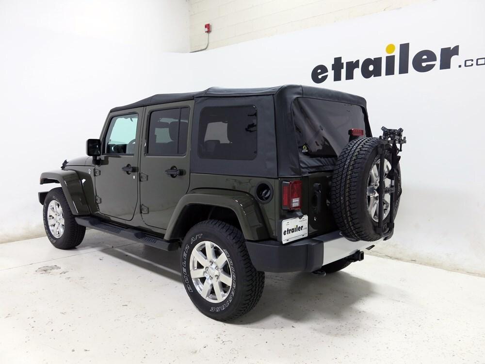2015 jeep wrangler unlimited hollywood racks sr2 2 bike carrier spare tire mount. Black Bedroom Furniture Sets. Home Design Ideas