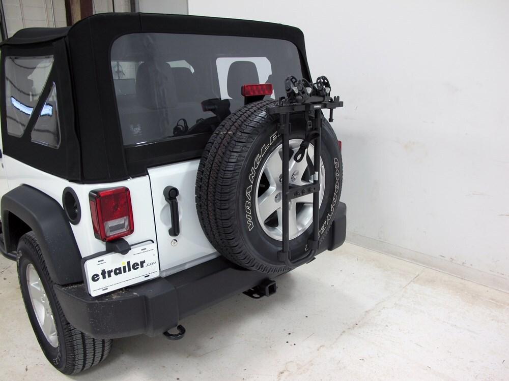 jeep wrangler hollywood racks sr2 2 bike carrier spare. Black Bedroom Furniture Sets. Home Design Ideas