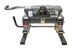 Husky Silver Series 16K W 5th Wheel Trailer Hitch w/ 16K Roller - Single Jaw - 16,000 lbs