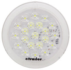 "Opti-Brite LED Dome Light - 6-3/32"" Round - 21 Diodes - Clear Lens"