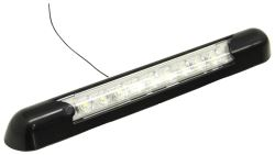 Opti-Brite RV Interior Strip Light w/ Switch - Awning Mount - White LEDs - Black Housing