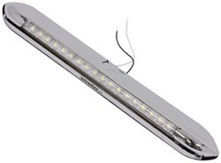 Opti-Brite LED Interior Strip Light Awning Mount White LEDs - Polished Chrome Housing