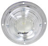 "Opti-Brite LED Dome Light w/ Chrome Plated Steel Base - 6-7/16"" Round - 2 Diodes - Clear Lens"