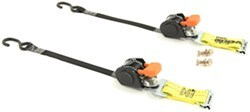 "CargoBuckle Mini G3 Retractable Ratchet Straps w E-Track Adapters - 1""x6' - 466 lbs - Qty 2"