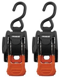 "CargoBuckle Mini G3 Retractable Ratchet Straps - Bolt On - 1"" x 6' - 466 lbs - Qty 2"