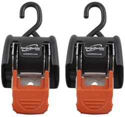 "CargoBuckle Retractable Ratchet Straps for TracRac Systems - 2"" x 6' - 1,167 lbs - Qty 2"