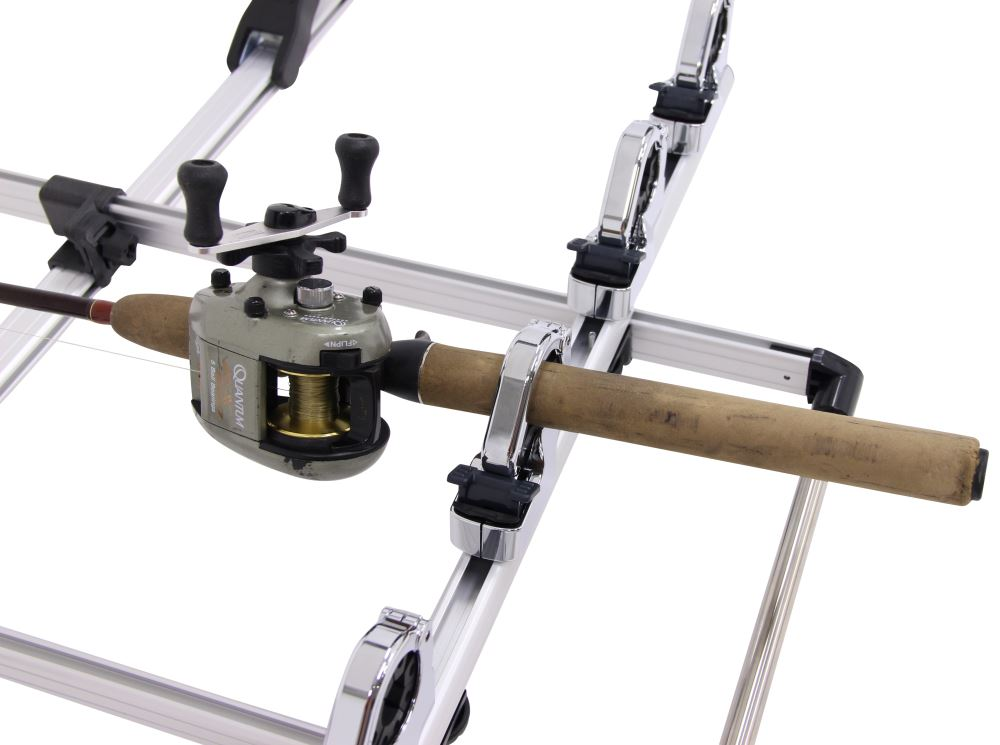 Inno fishing rod holder roof mount clamp style 5 for Rooftop fishing rod carrier