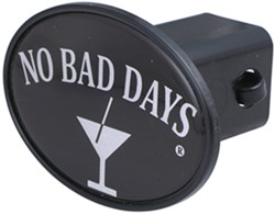 "No Bad Days Martini 2"" Trailer Hitch Receiver Cover"