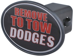 "Remove to Tow Dodges 2"" Trailer Hitch Receiver Cover"