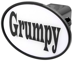 "Grumpy 2"" Trailer Hitch Receiver Cover"