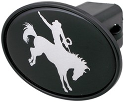 "Cowboy on Bucking Bronco 2"" Trailer Hitch Receiver Cover"