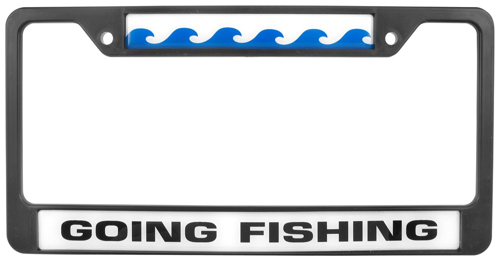 Going fishing license plate frame knockout license plates for Fishing license plate