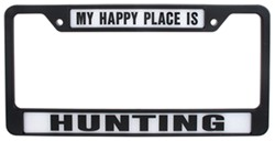 My Happy Place Is Hunting License Plate Frame