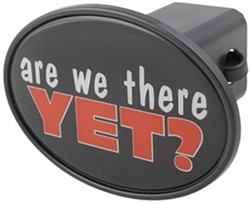 "Are We There Yet? 2"" Trailer Hitch Receiver Cover"