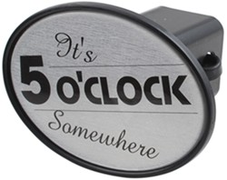 "It's 5 O'Clock Somewhere 2"" Trailer Hitch Receiver Cover"